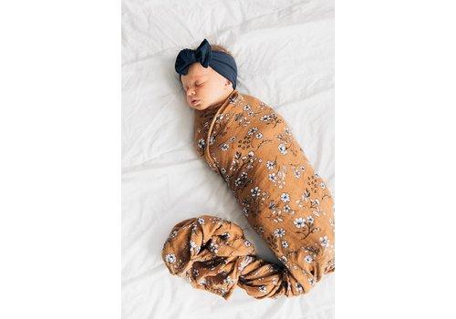 MEBIE BABY Vintage floral mudcloth swaddle blanket