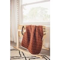 Rust mudcloth quilt