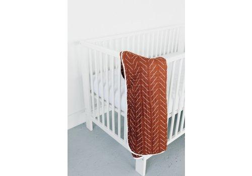 MEBIE BABY Rust mudcloth quilt