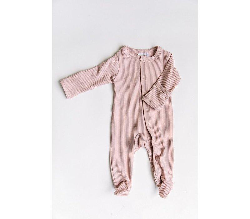 Pyjama côtelé - Pétale de rose