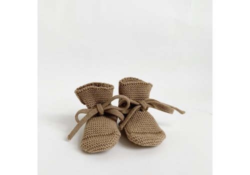 HVID Merino wool booties - Camel