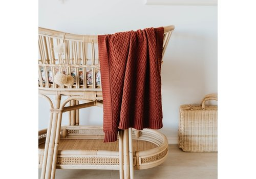 SNUGGLE HUNNY KIDS Diamond knit blanket - Umber