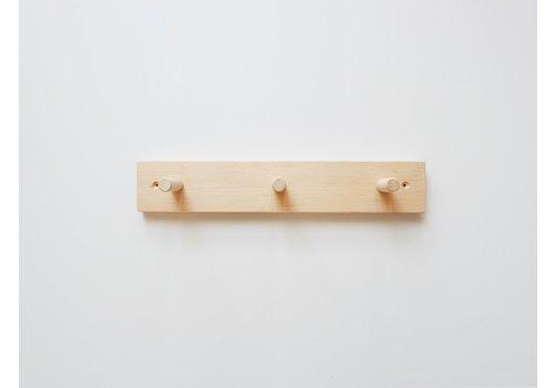 MINIKA Support en bois - 3 crochets