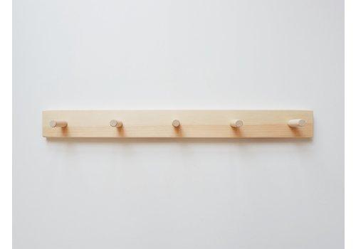 MINIKA Support en bois - 5 crochets