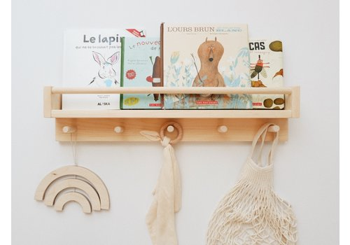 MINIKA Book shelf with hooks