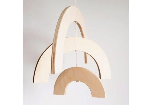 MINIKA Mobile arc-en-ciel en bois