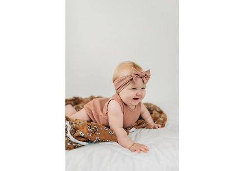 MEBIE BABY Dusty rose headband