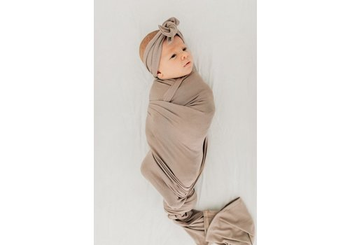 MEBIE BABY Taupe stretch swaddle