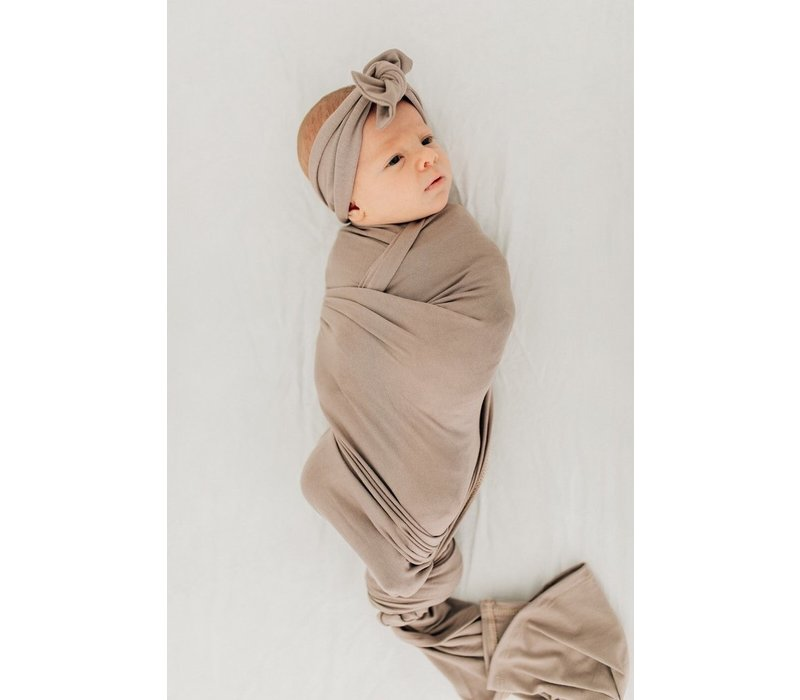 Taupe stretch swaddle