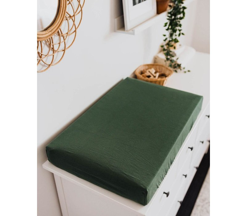 Olive change pad cover