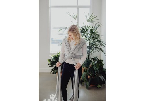 ZAK & ZOÉ Bamboo baby carrier wrap - Light grey