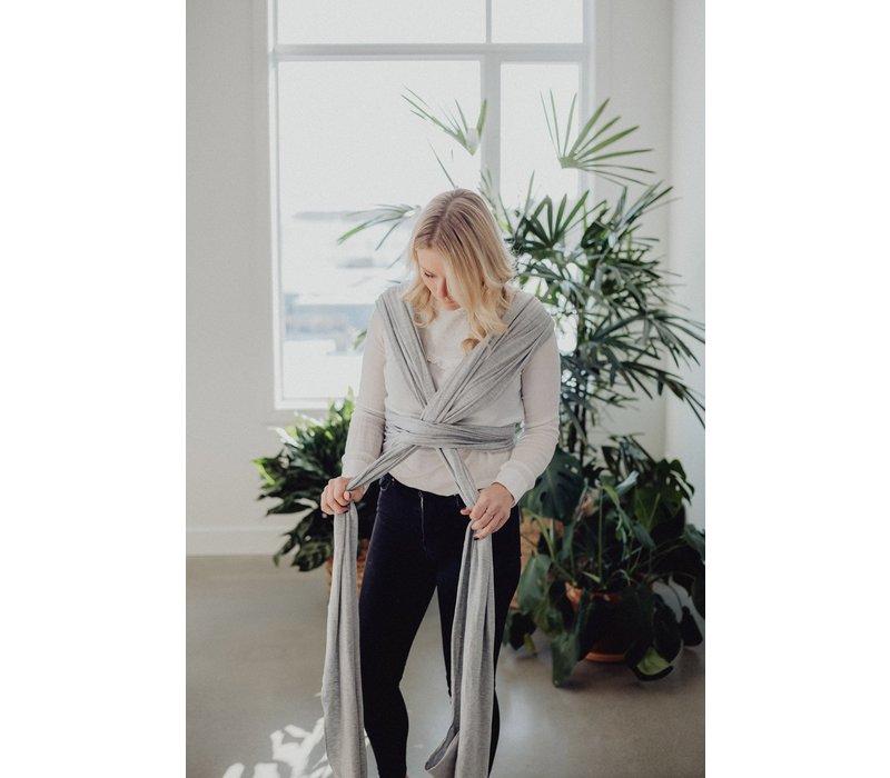 Écharpe de portage en bambou - Gris pâle