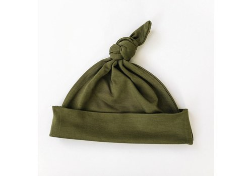 MEBIE BABY Olive knotted hat
