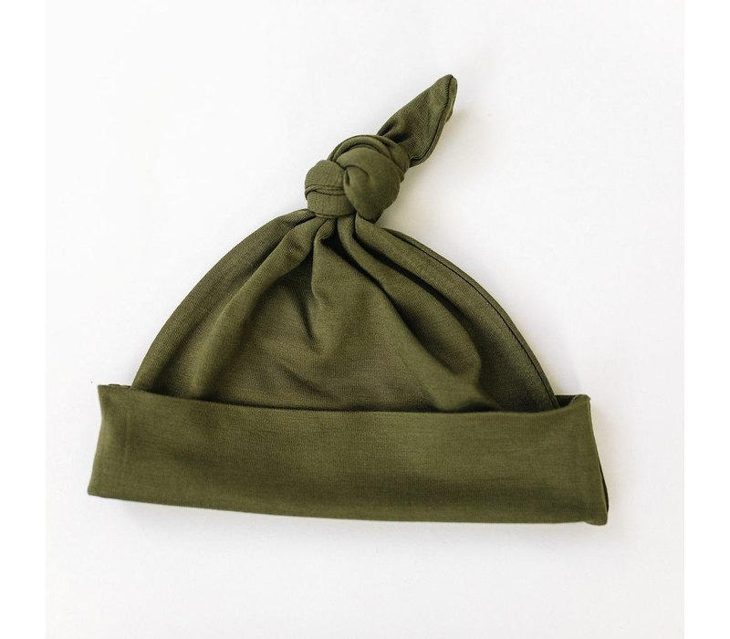 Olive knotted hat