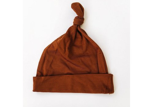 MEBIE BABY Rust knotted hat