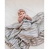 MEBIE BABY Grey dash swaddle blanket