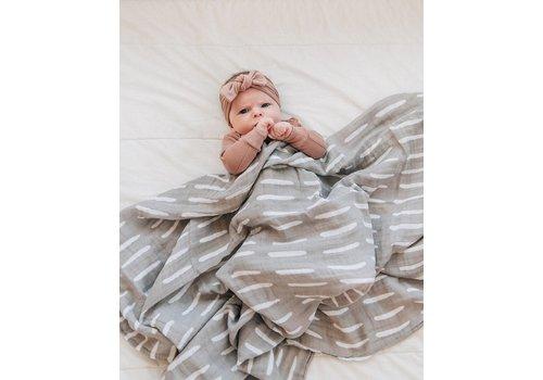 MEBIE BABY Couverture en mousseline - Tirets gris