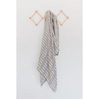 Grey dash swaddle blanket