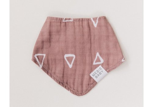 MEBIE BABY Blush triangle bib