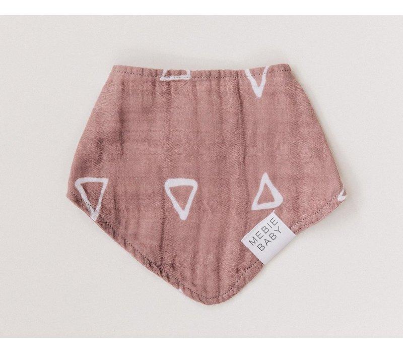 Blush triangle bib