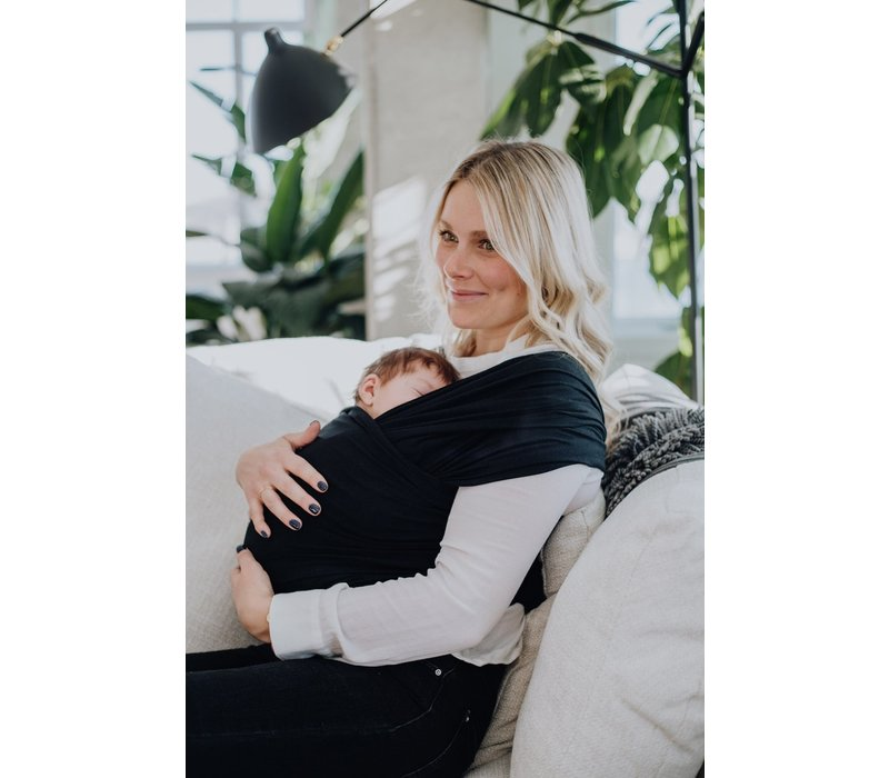 Bamboo baby carrier wrap - Black