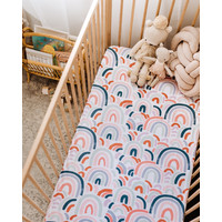 Rainbow baby fitted sheet
