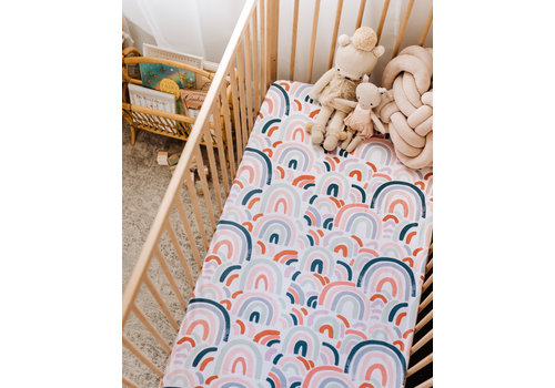 SNUGGLE HUNNY KIDS Rainbow baby fitted sheet