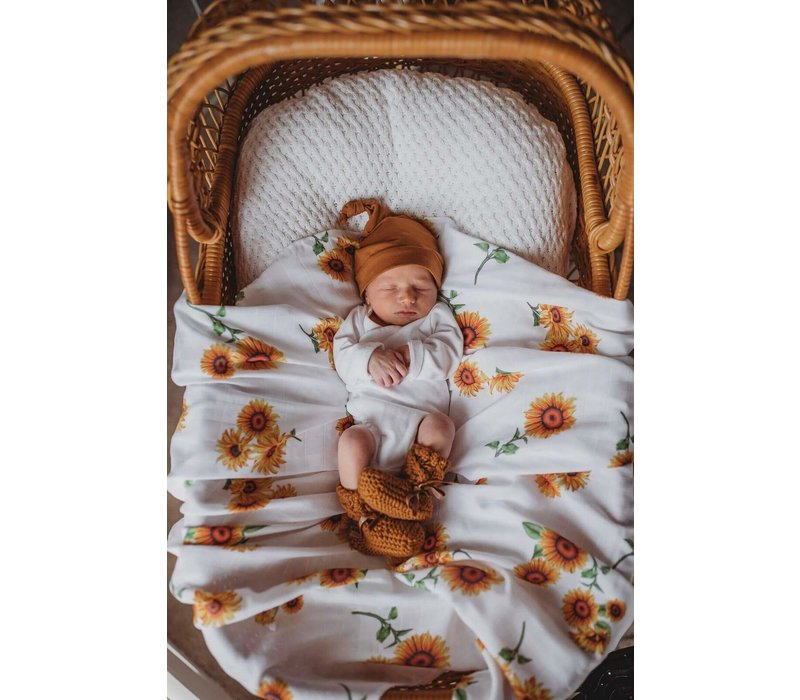 Organic muslin blanket - Sunflower