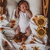 SNUGGLE HUNNY KIDS Organic muslin blanket - Sunflower
