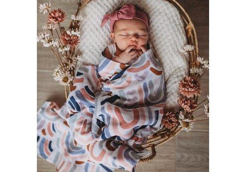 SNUGGLE HUNNY KIDS Organic muslin blanket - Rainbow baby