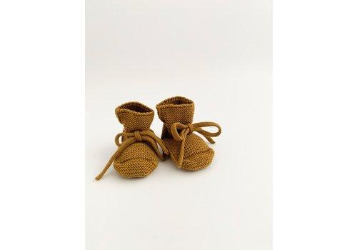 HVID Merino wool booties - Mustard