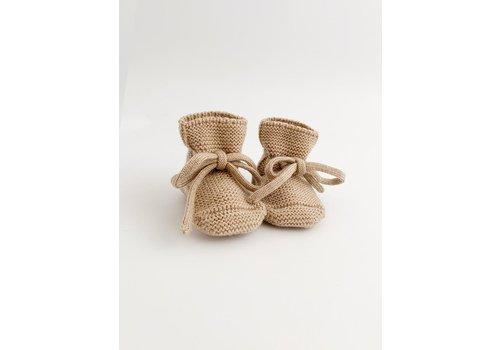 HVID Merino wool booties - Sand