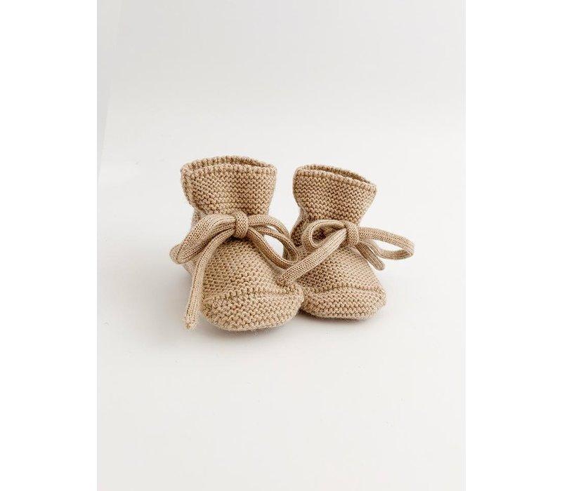Bottines laine de merino - Sable