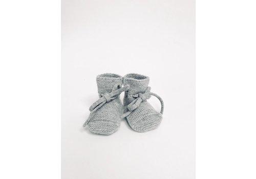 HVID Bottines laine de merino - Mélange de gris
