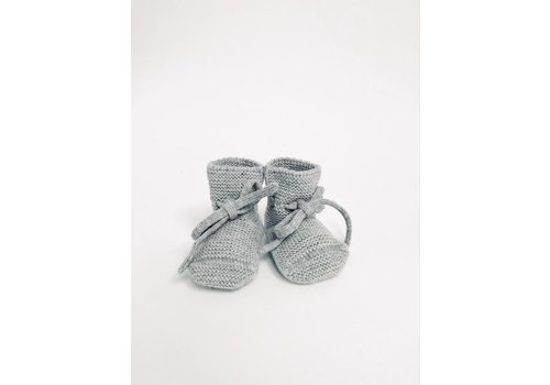 HVID Merino wool booties  - Grey melange