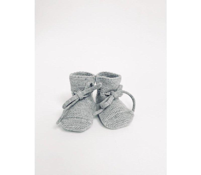 Merino wool booties  - Grey melange