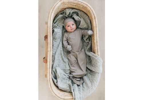 MEBIE BABY Taupe gown