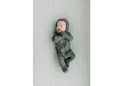MEBIE BABY Fern zipper footie