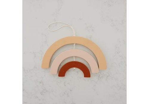 MINIKA Decorative rainbow - Natural/blush/ginger