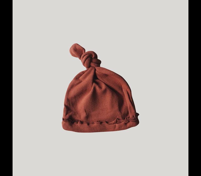 Knotted hat - Burnt Orange