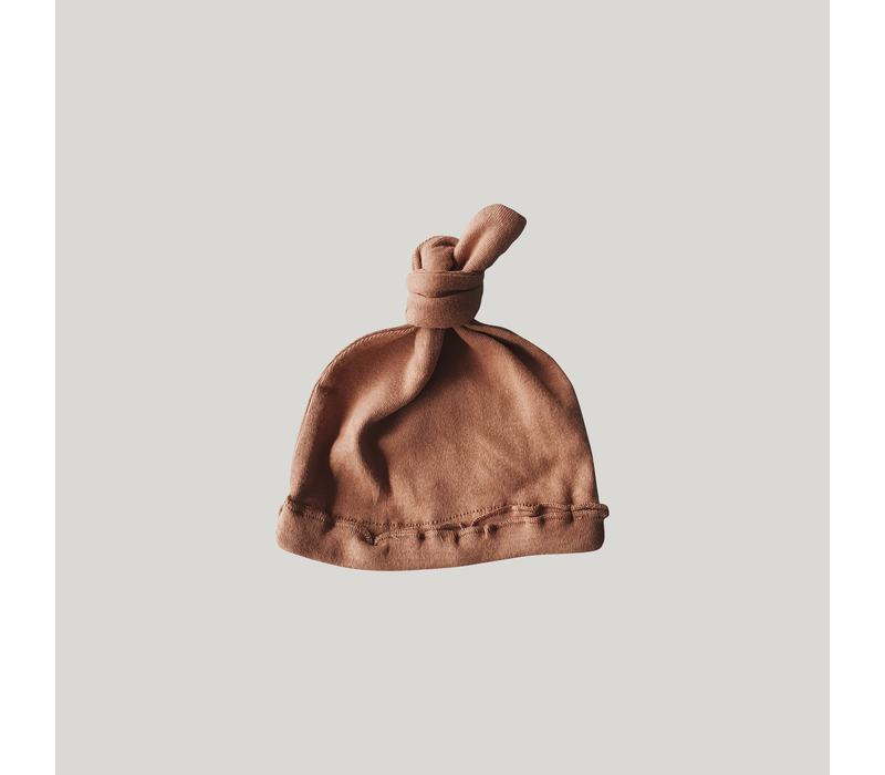 Knotted hat - Terracotta