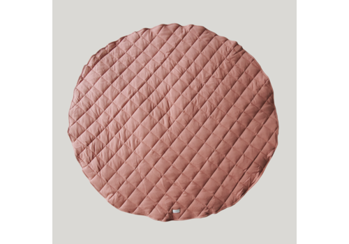 SUSUKOSHI Quilted organic playmat - Pink clay