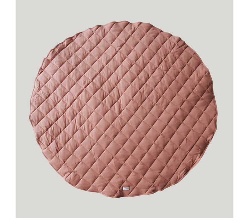 Quilted organic playmat - Pink clay