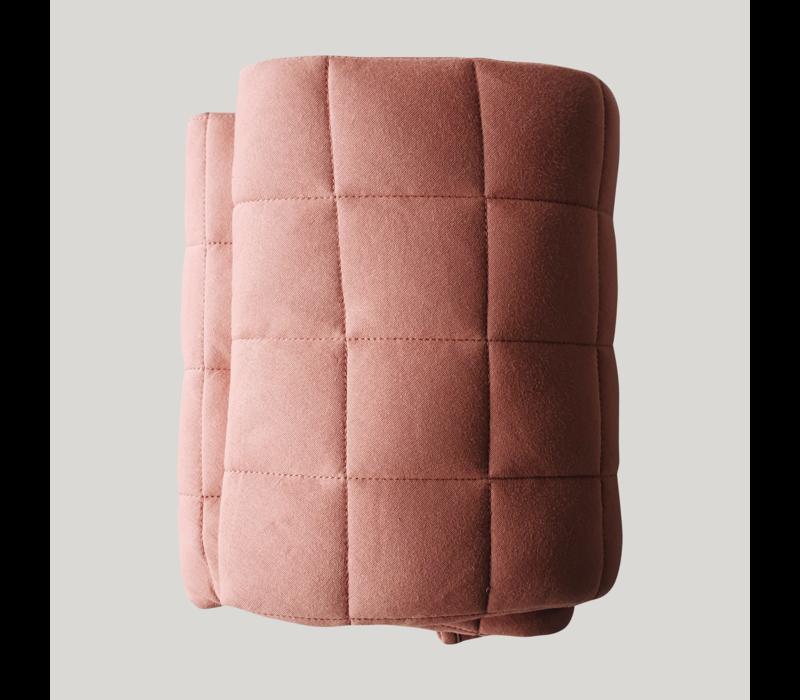 Tapis de jeu matelassé coton bio  - Pink clay