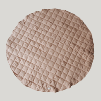 Tapis de jeu matelassé coton bio  - Tan