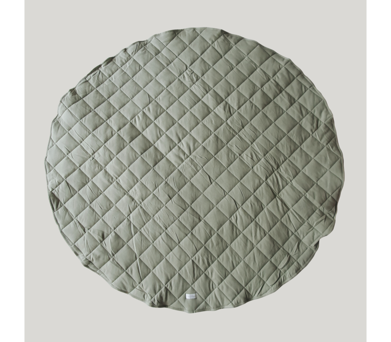 Quilted organic playmat - Sage
