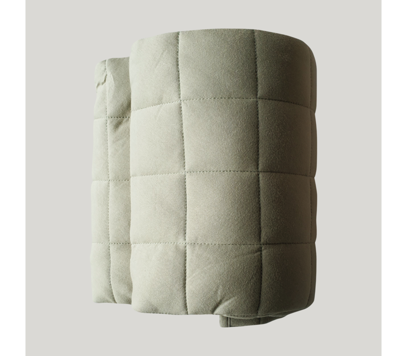 Tapis de jeu matelassé coton bio  - Sage