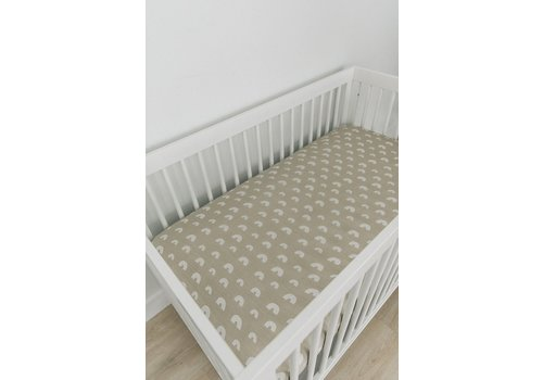 MEBIE BABY Sand rainbow crib sheet