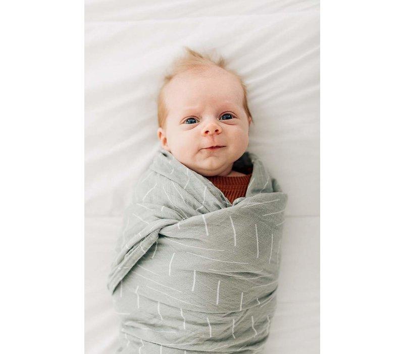 Sage swaddle blanket