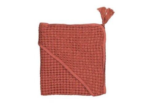 MOUMOUT PARIS Hooded towel - Brick